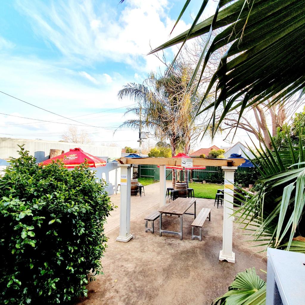 beer garden deck